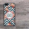 Flowers chevron customized iPhone case new design