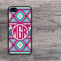 aztec colored pattern spiritual design iPhone case