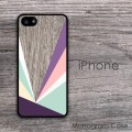 Geometric elements pastel colored design iPhone hard case