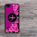 purple flowers elegant design iPhone hard case
