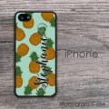 Hawaiian pineapple pattern personalized iPhone hard case