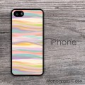 Pastel colors wave seemless pattern iPhone case