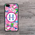 Pink hand painted rosses iPhone case