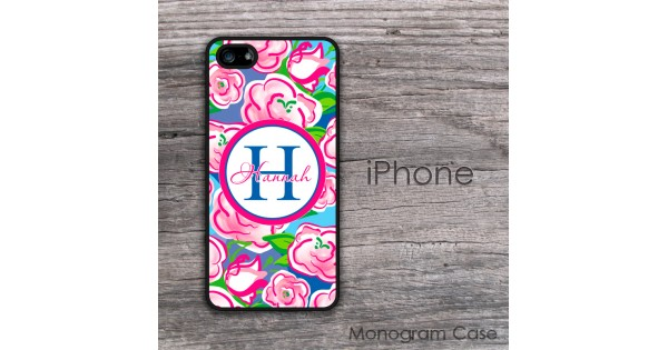 Pink Hand Painted Rosses Iphone Case Monogramcase