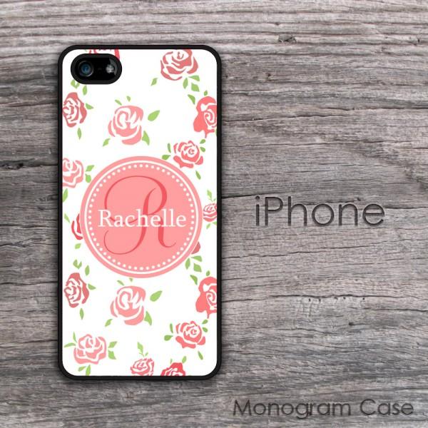 Roses print white background beautiful handwriting iPhone case