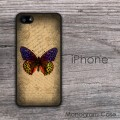 Vintage design butterfly print iPhone cover