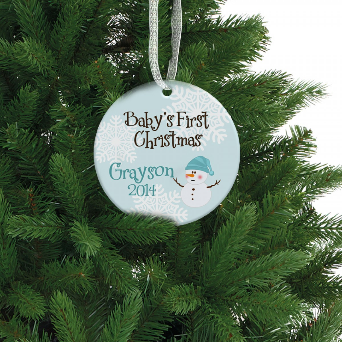 Baby boy christmas ornament personalized memory gift ...