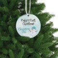 Baby boy christmas ornament personalized memory gift