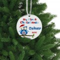 Christmas decorations ceramic ornament personalized memory gift