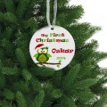 Colorful my first christmas ornament baby holiday gift