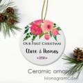 Couple's first Christmas tree ceramic decoration