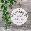 Engaged wedding customized porcelain ornament keepsake gift