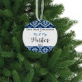 First christmas married couple family tree decoration gift