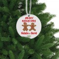 girl and boy gingerbread christmas round ornament