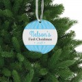 My first christmas baby boy holiday gift porcelain ornament