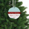 Our first christmas ceramic ornament family gift