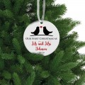 Оur first Christmas as mr mrs christmas ornament