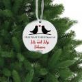 Оur first Christmas as mr mrs christmas ornament