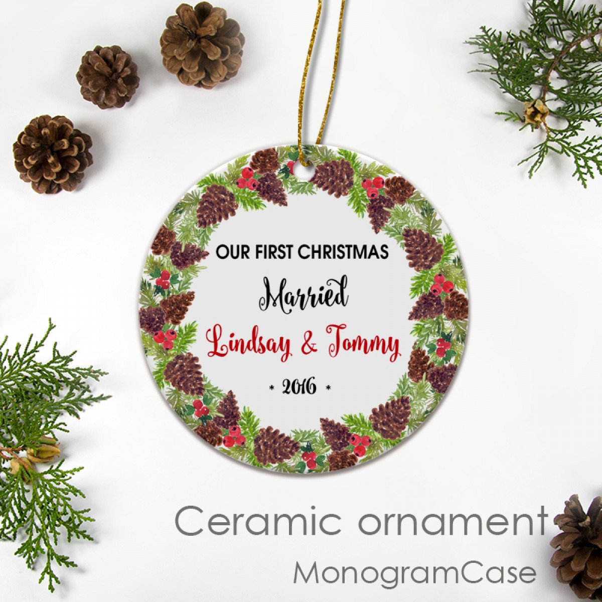 Christmas Ornaments With Names On Them.Personalized Christmas Ornament Custom Name Gift