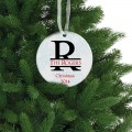 Personalized porcelain ornament family name christmas gift