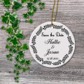Save the date first gift wedding customized ceramic ornament