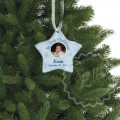 Baby boy xmas ceramic ornament personalized memory