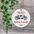 Tandem bike engagement ceramic ornament love gifts