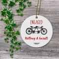 Tandem bike engagement ceramic ornament love gifts