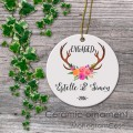 Wedding antler, engagment country floral antler qoute anniversary