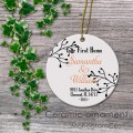 Your first home print porcelain ornament keepsake gift