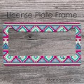ethnic geometric aztec pattern customized front car tag
