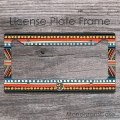 Indie inspired african look customized car tag