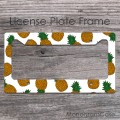 Pineapples summer pattern design front car license frame