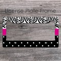 Zebra and polka dots pattern customized front car frame