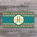 Hippy boheme gypsy look personalized license plate