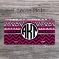 Monogrammed fuchsia colored Nepali style design car plate