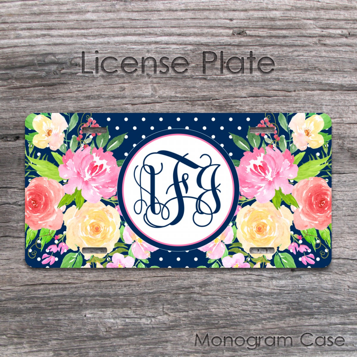 Personalized Front License Plates >> Personalized Watercolor Flower Front License Plate Or Frame