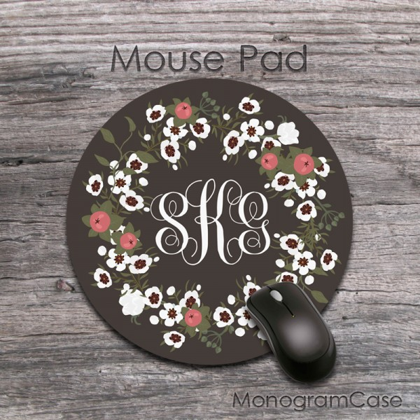 Art flowers custom made round mousepad