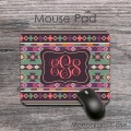 Mexican southwestern aztec pattern monogrammed mousepad