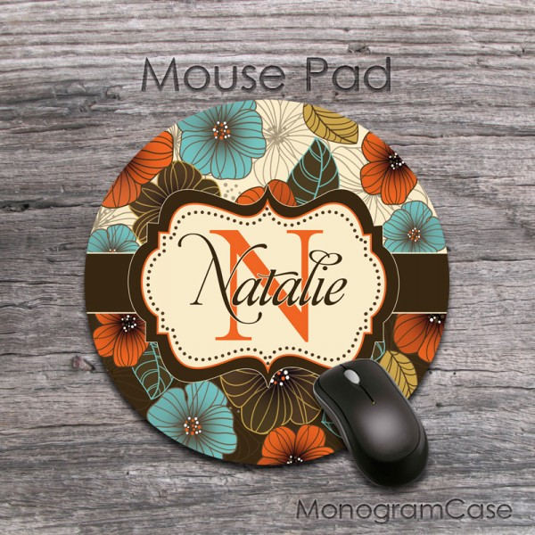 Lovely peonies hand painted custom round mousepad
