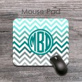 Mousepad grey teal light blue multicolored chevron