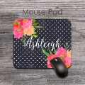 Colleague office gift floral mouse pad