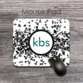 Sparkles black grey effect pattern customized mousepad