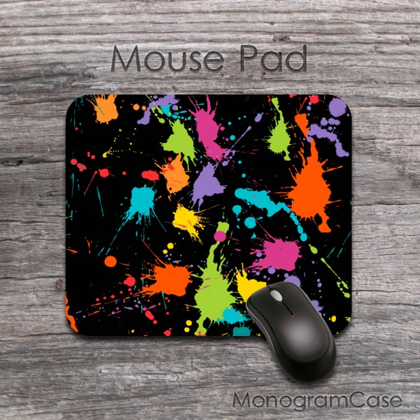 Sprayed multicolors design mouse pad