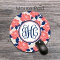 Vinatage coral elegant flowers custom office accessory mousepad
