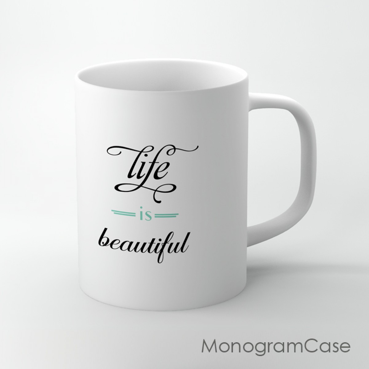 life is beautiful inspired design coffee mug monogramcase