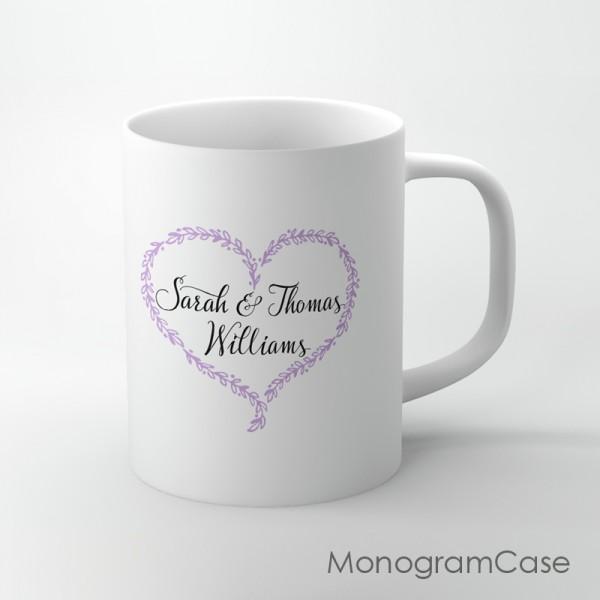 Personalized wedding engagement love design coffee mug
