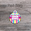 Mixed colors round cat dog all pet tag
