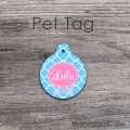 Pet tag sky blue and pink design