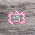 Pink and grey bone label customized tag